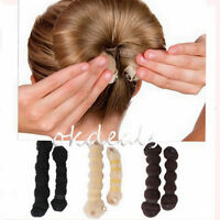 Hot Fashion Magic Elegant Buns Hair Style Bun Maker 2pcs/set(1 large + 1 small)