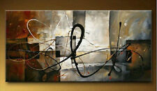 "24 ""x 48""Large hand-painted wall art abstract oil painting canvas(no frame)"