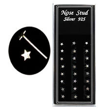 Wholesale Package 24pcs Sterling Silver Star Shaped Nose Studs