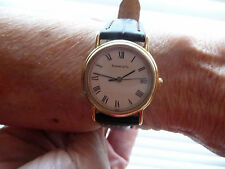LADIES TIFFANY & CO BY MOVADO QUARTZ GOLD WATCH