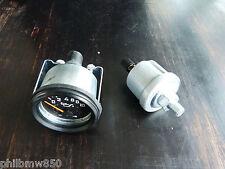 //Druckgeber Öldruckgeber 0-10bar BAR Warnkontakt mit Öldruckanzeige Instrument
