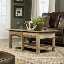 Sauder Woodworking 416562 Boone Mountain Log Cabin Coffee Table Craftsman Oak