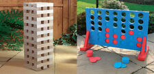GIANT JENGA + GIANT CONNECT 4 PARTY GARDEN GAMES INDOOR OR OUTDOOR GAME SET