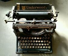 Vintage UNDERWOOD No. 5 TYPEWRITER - Glass Keys PARTS OR REPAIR