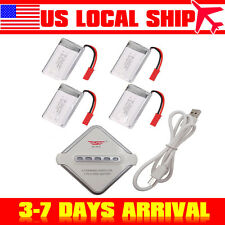 4x Li-po Battery 3.7V 750mAH+Charger Board For MJX X300C X400 X800 Quadcopter