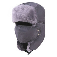 Unisex Winter Warmer Military Trooper Trapper Aviator Earflap Ski Hats With Mask