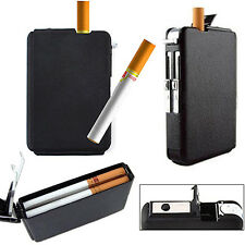 Automatic WindProof Lighter Pocket Ejection Butane Cigarette Case Box Convenient