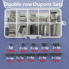 Double row Dupont Kit Box 1P/2*2-10 Pin Housing Terminal Jumper Wire Connector