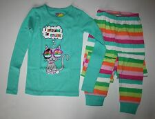 New Crazy 8 Gymboree Kitty Cat Dreams in Color PJs 2 piece 6 year NWT Cute! Girl