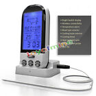Digital LCD Wireless Remote Kitchen Oven Food Cooking Meat BBQ Grill Thermometer