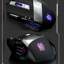 7D 2400DPI JS-X5 7 Buttons Optical Usb Multimedia Pro-Gaming Mouse WOW LOL CF UK