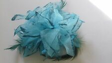 Hair Band no clip /Fascinator-Flower for Wedding/Party with feathers& glittery