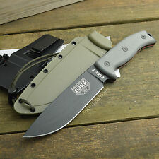 ESEE Model 6 1095 Carbon Plain Edge Survival Knife OD Green Sheath ESEE-6P-OD