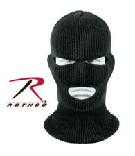 Black Military Three Hole Acrylic Cold Weather Face Mask Rothco 5504