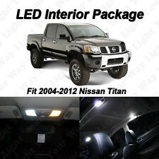 13 x Nissan Titan Xenon White SMD LED Interior Bulbs Kit + License Plate Lights