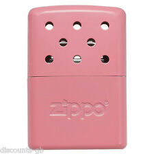 ZIPPO PINK HAND WARMER Kit - 6 HOUR -CAMPING, TRAVEL, EMERGENCY Winter Sports
