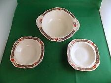 Alfred Meakin Harmony Shape Serving Bowl and 2 Small Bowls
