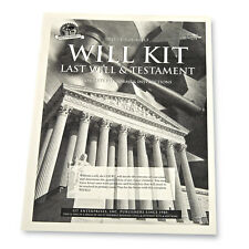 Collections Etc Legal Do It Yourself Will & Testament Kit