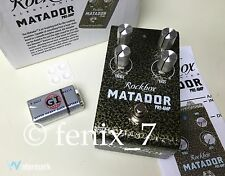 NEW Rockbox Matador Boost Overdrive Distortion TS9 Pre-Amp Solo TS808 Gain Tube