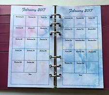 Filofax Personal Planner 2017 Diary - Jan to Dec Monthly Calendar - Colours