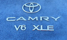 TOYOTA CAMRY LETTERS V6 XLE & lOGO TRUNK EMBLEMS OEM (8 PIECES)