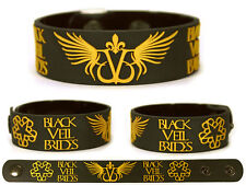 BLACK VEIL BRIDES Rubber Bracelet Wristband Wretched and Divine In the End Gold