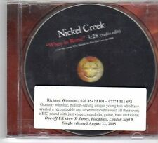 (DY372) Nickel Creek, When In Rome - 2005 DJ CD