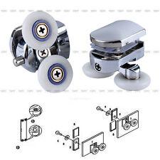 2 x Twin Bottom Zinc Alloy Shower Door Rollers Runners Wheels 26mm Wheel