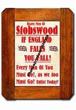 NORTHUMBERLAND - STOBSWOOD - WW1 STYLE - REPRO TOWN RECRUITMENT POSTER
