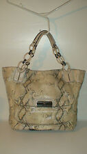 roots-   LIMITED EDITION COACH KRISTIN EMBOSSED METALLIC PYTHON TOTE-16797