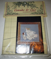 """""""ANGEL OF MERCY"""" LAVENDER & LACE VICTORIAN DESIGNS CROSS STITCH """"CHART"""""""
