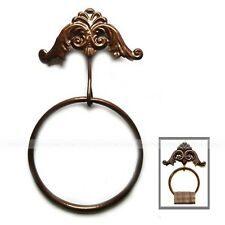 Vintage Rustic Cast Iron Round Wall-Mounted Bathroom Kitchen Towel Holder Ring