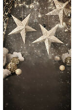 5x7FT Christmas Decors Balls Stars Snowflakes Photo Background Backdrop Vinyl