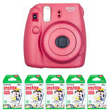 Fujifilm Fuji instax mini 8 Raspberry Red Instant (Polaroid)Camera + 50 Prints