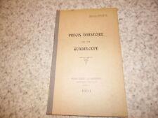 1931.Précis d'histoire de la Guadeloupe.Maurice Martin