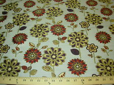 ~BTY~FLOWERS MEADOW~REGAL~EMBROIDERED AWSOME UPHOLSTERY FABRIC~FABRIC FOR LESS~