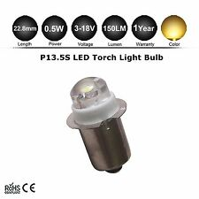 Warm White P13.5S LED Flashlight Replacement bulb Lantern Work Light 3V-18V 6V