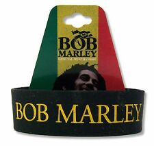 BOB MARLEY - LEGEND BLACK SILICONE WRISTBAND REGGAE BRACELET RASTA NEW OFFICIAL