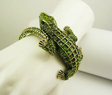 "Kenneth Jay Lane Alligator Bracelet ""Couture Collection"" MADE IN USA"