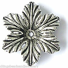 20 Tibetan Silver 22X5mm Flower Beads For Jewellery Making