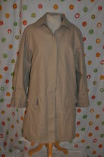 LONDON FOG LIMITED EDITION  chic KHAKI  lined  ALL WEATHER COAT WOMEN 18