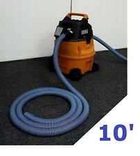 "10' Vacuum Exhaust Hose: For Craftsman, Ridgid and Shop-Vac w/ 2-1/4"" rear ports"