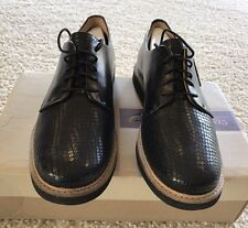 Women's Clarks Artisan Comfy Glick Darby Oxford Shoe Black Leather 26125092