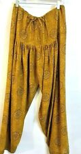 Jeannie Harem Belly Dance Hippie Loose Fit Women Pants M? L? Floral Ethnic