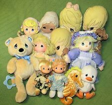 Precious Moments Vintage Lot of 13 Fabric Pillows Prayer Doll MUSICAL TEDDY ++