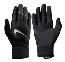 $65 NIKE MEN BLACK GRAY THERMA FIT ELITE 2.0 TOUCH ATHLETIC SPORT RUN GLOVES XL