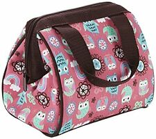 Fit and Fresh Kids Riley Insulated Lunch Bag, Rainbow Owl New