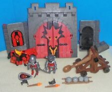 Playmobil Red Dragon CASTLE GATE + 2 Knights, Horse, Catapult, and more