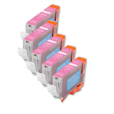 5 NEW PHOTO MAGENTA Ink Cartridge + smart chip for Canon CLI-8PM Pro9000 iP6600D