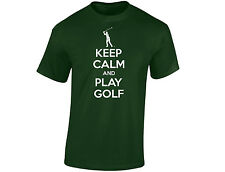 Keep Calm And Play Golf Mens Funny T-Shirt (12 Colours)